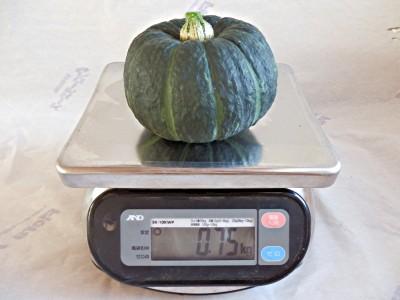 坊ちゃんかぼちゃ重さ750g
